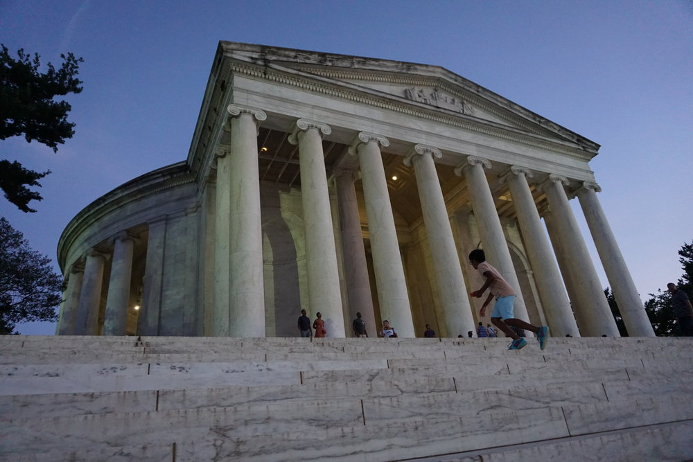 Lincoln Memorial at dusk, Washington DC