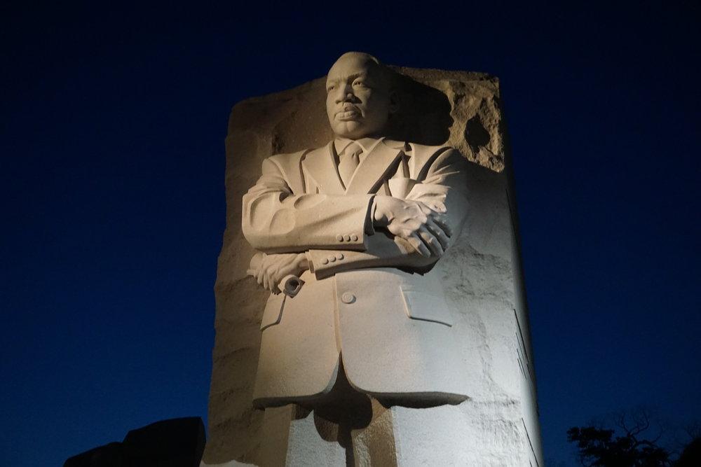 Martin Luther King, Jr. Memorial at night, Washington DC
