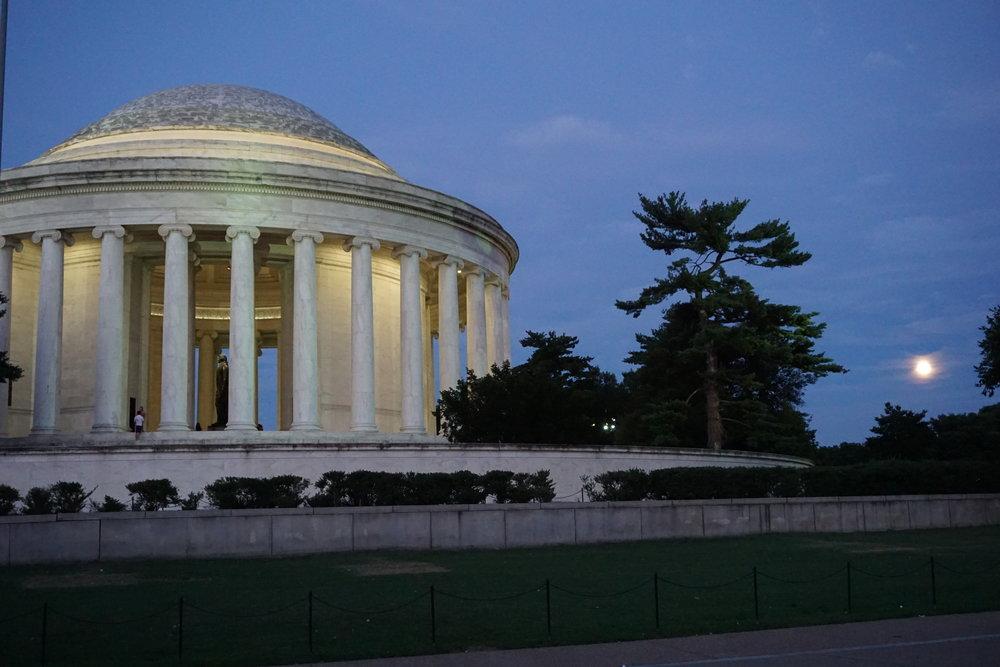 Jefferson Memorial at dusk, Washington DC