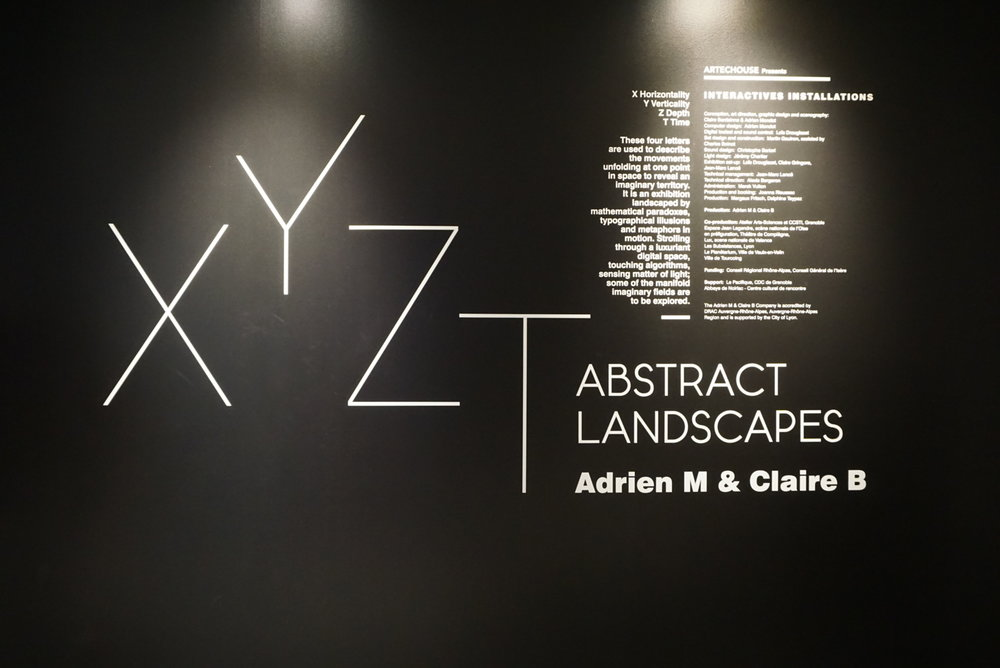 XYZT Abstract Landscapes exhibit at Artechouse, Washington DC