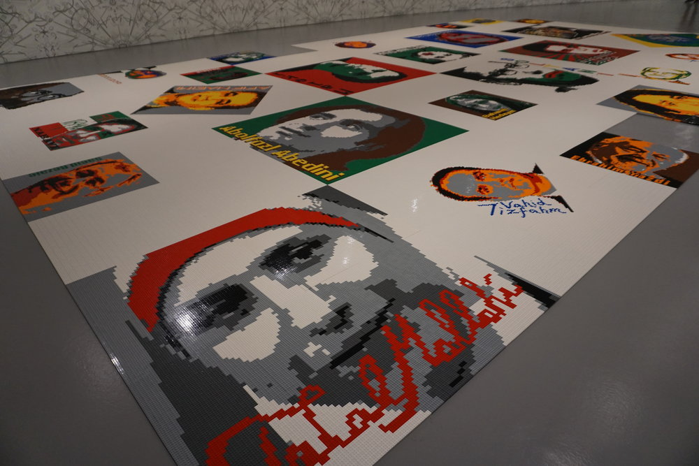 Trace at Hirshhorn portrays activists, prisoners of conscience, and advocates of free speech, using portraits made of LEGOs.
