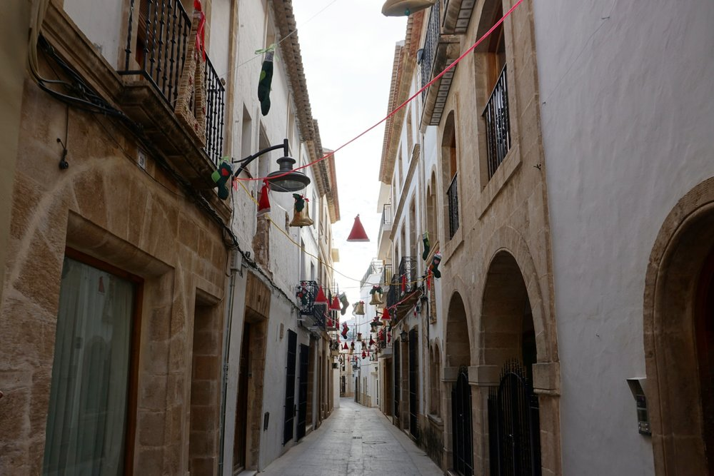 Downtown Jávea, Spain