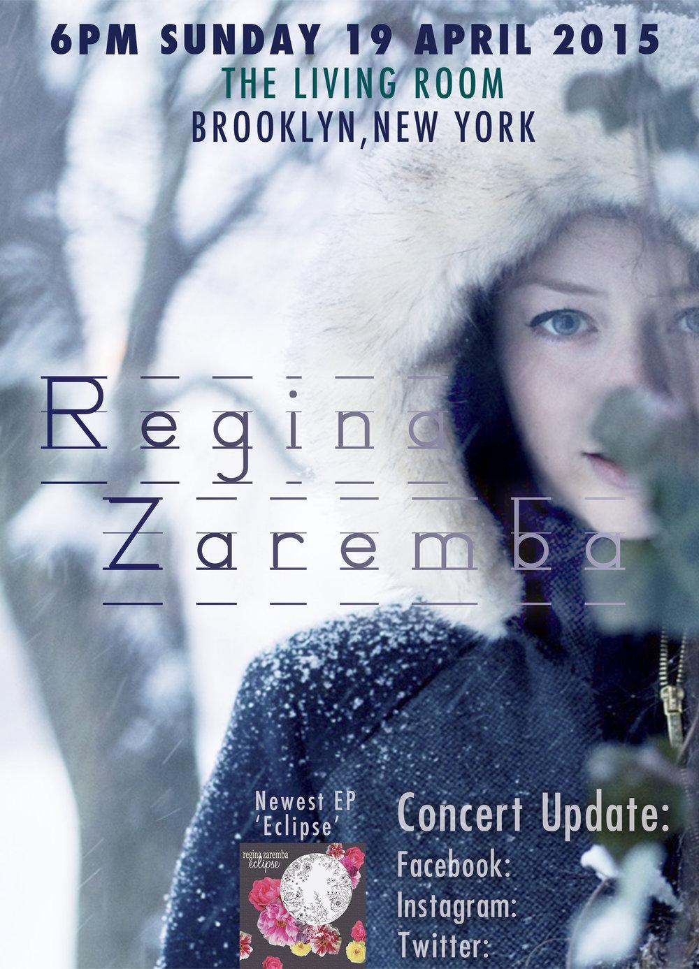 Regina Zaremba Concert Poster