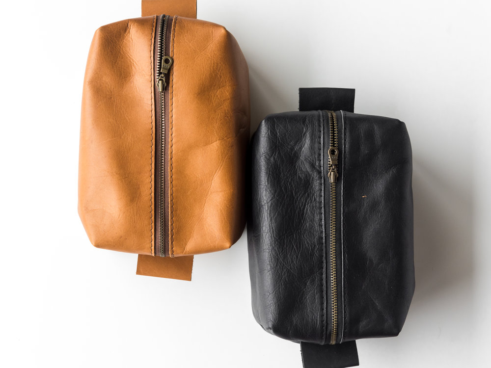 leather dopp kit tan and black.jpg
