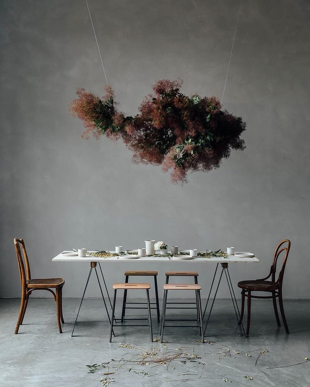 Floral Installation by  Mary Lennox  |Photography by  Our Food Stories