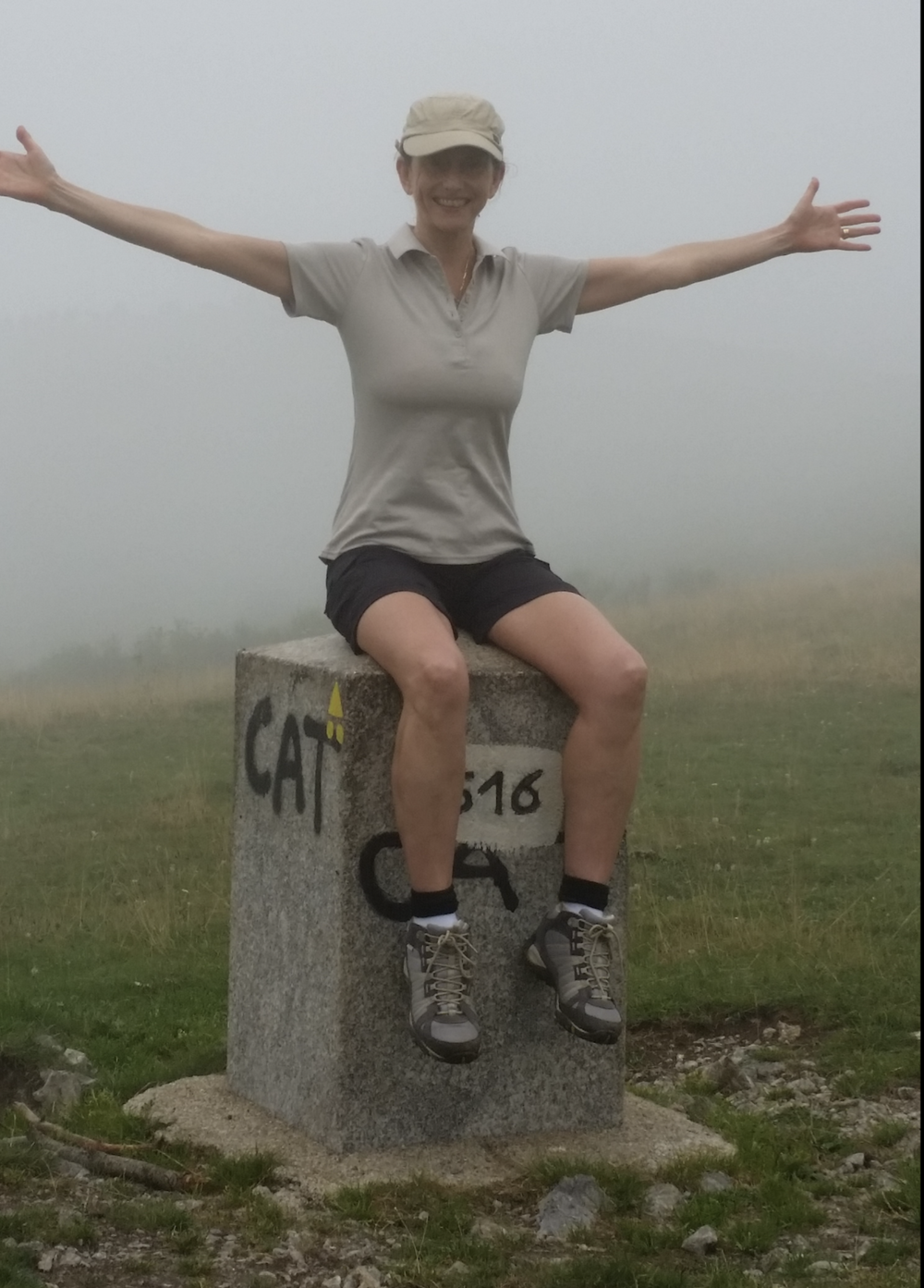 Rowena on her own adventure in the Pyrenees on the border of Spain and France in 2015.