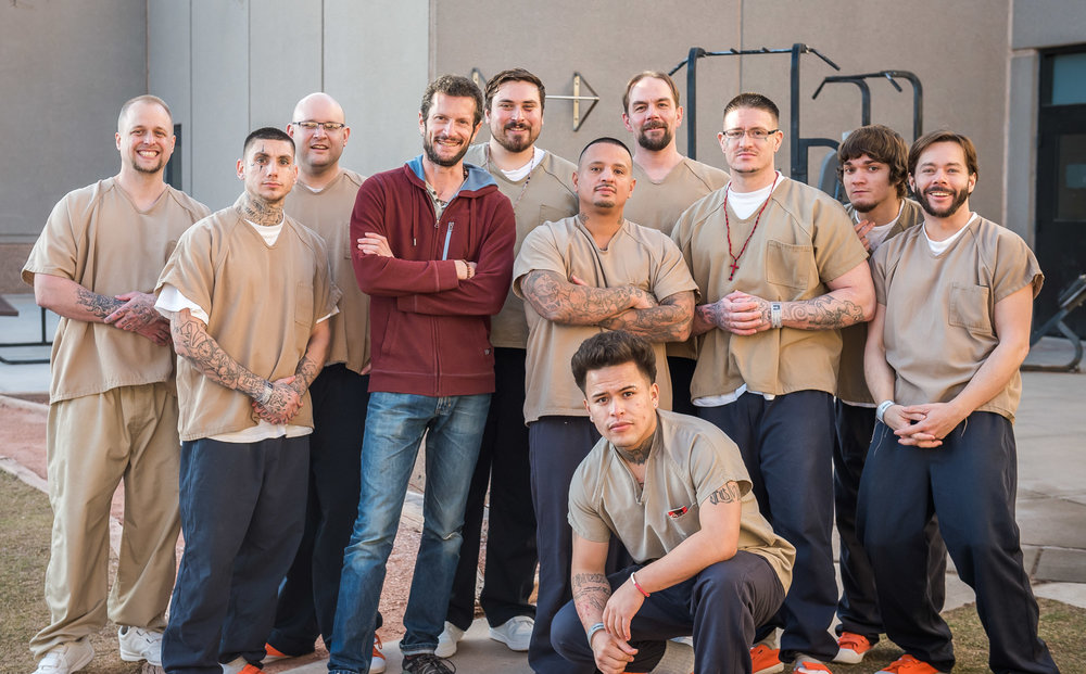 Ryel with our inmate participants at the Boulder County Jail