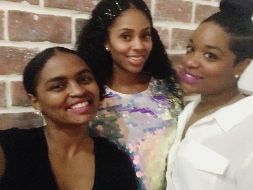 Shavonne, Toni, and Jazz celebrate Toni's birthday on 1.27.18.