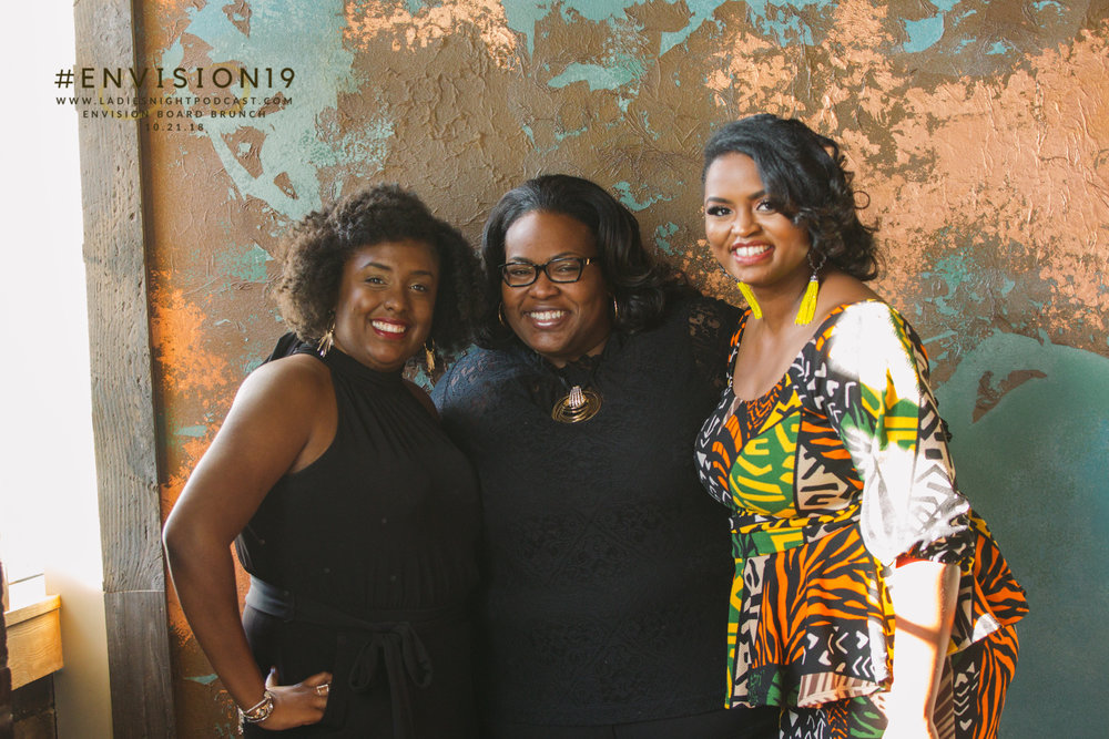 Hazel Owens, Dr. Hodge, and Shavonne at the EnVision Board Brunch 10.21.18