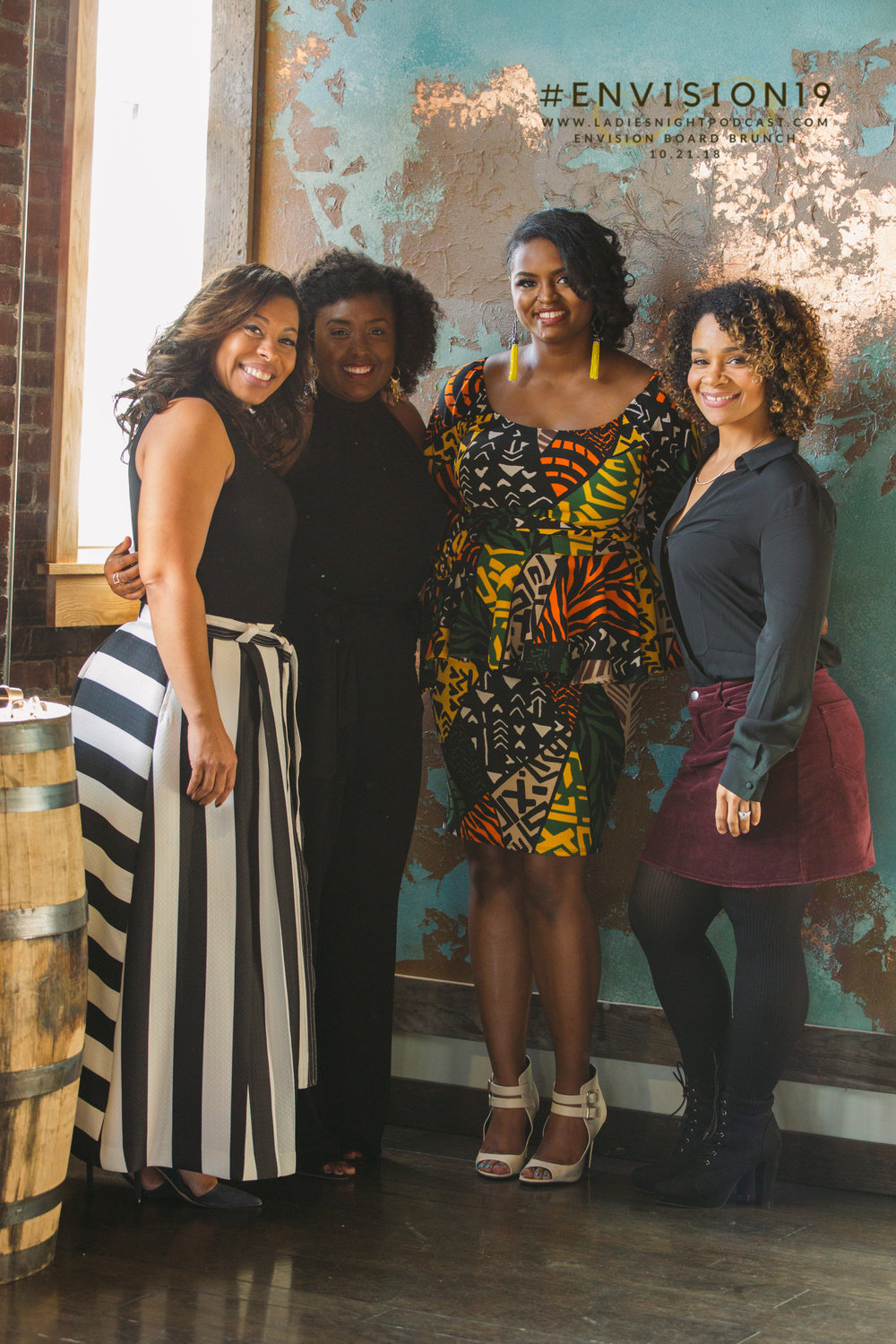 LaChelle T. Parker, Hazel Owens, Shavonne Holton,and Eva Guzman during the EnVision Board Brunch 10.21.18.