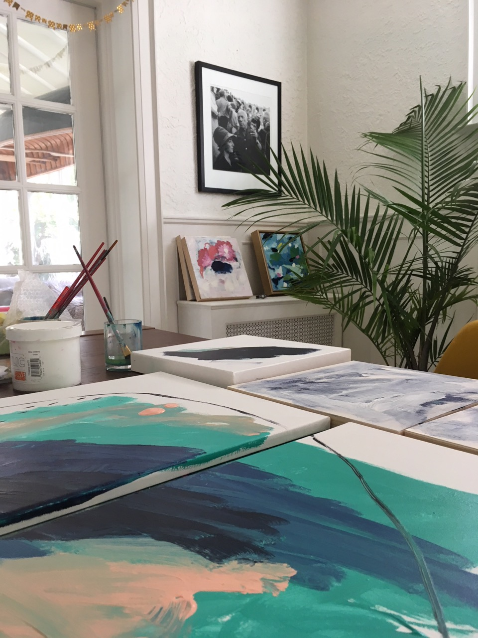 Studio views with work in progress (Companions)