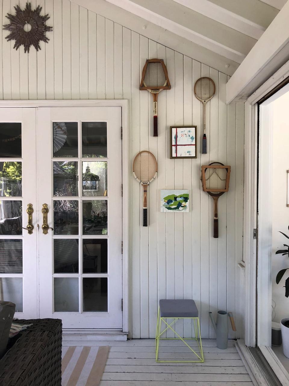 "Top:  Borderlines , 2017 oil on cradled wood panel. Bottom:  Compass XIII , 2018 8 x 10"" oil on cradled wood panel."