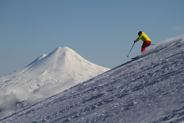 Corralco ski resort.  South of Santiago, Chile, South America