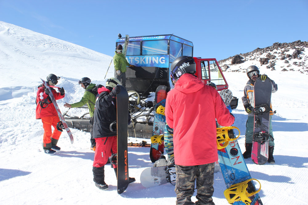 There is even Catskiing in some places in Chile, South America
