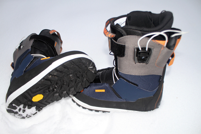These are splitboard specific snowboard boots. Yes! Finally! All the right flex in all the right places. Speed lacing to make sure they lace up perfectly for your foot.  A nice sticky Vibram sole makes them that much better for climbing around on rocks. Amazing waterproof material systems means you can keep those feet dry all day while skinning around the mountains.  Extras include a power strap to tighten the boot and crampon compatibility.  Designed by pro-snowboarder Xavier Delerue.   www.deeluxe.com