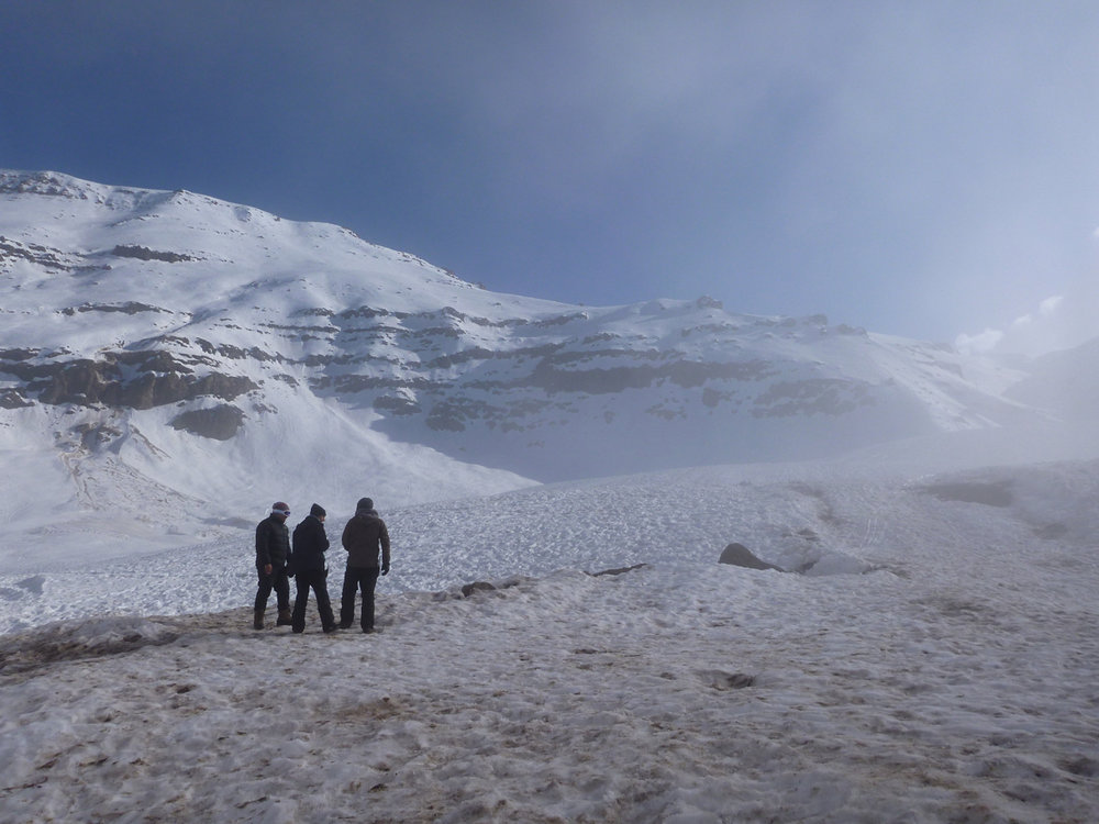 The location near Valle Nevado, Chile, South America.  It actually was a little too warm at the beginning of the shoot.