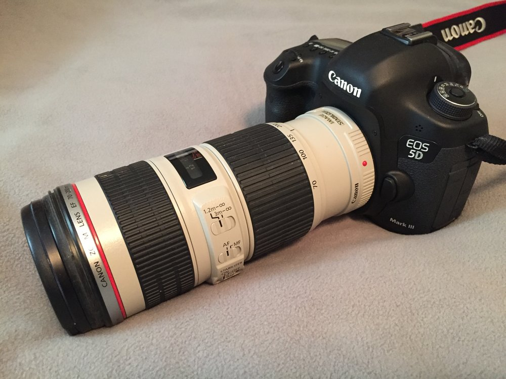 Canon 70-200mm F/4 L IS USM lens on a Canon 5D Mark III