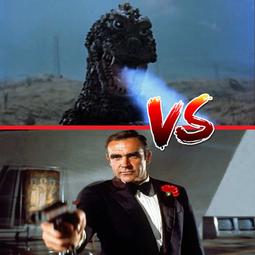 James Bond vs. Godzilla (Image credit of Toho and Eon Productions)