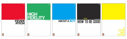 Reimagined book covers for Nick Hornby titles
