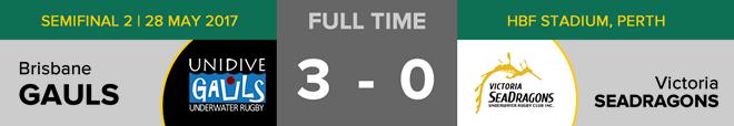Goals: Brisbane 3 (Gavin Bott, Ricardo Iriarte, Freydick Corrales Cruz), Victoria 0. Free throws: Brisbane 6, Victoria 5. Penalties: N/A. Time penalties: N/A.