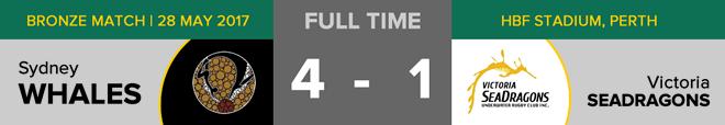 Goals: Sydney 4 (Gonzalo Serna Diaz, Manakon Eammano x 3), Victoria 1 (Jared Carnie). Free throws: Sydney 4, Victoria 1. Penalties: Sydney 0, Victoria 2. Time penalties: Sydney 0, Victoria 1.