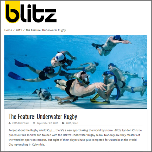 The Feature: Underwater Rugby  Blitz (UNSW), 22 September 2015