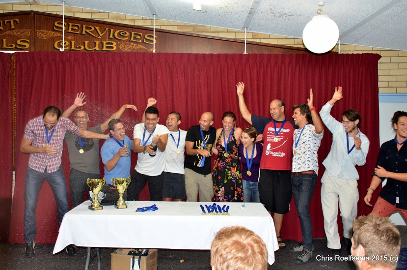 The UWR UNSW team celebrating their tournament win