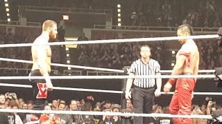 Zayn and Nakamura stare each other down