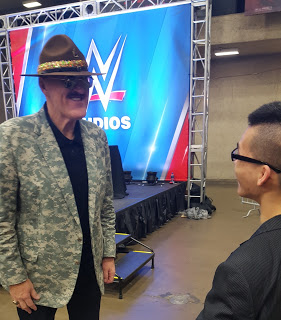 Liong talking to Sgt. Slaughter