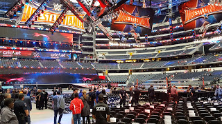 AT&T Stadium prior to the start of WrestleMania 32