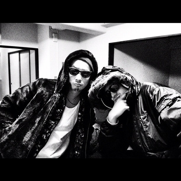 February, me & DJ Kentaro had a slight swag overkill! Haha #swag #overkill #G #wannabe #japan #style #lol #jokes (Taken with  Instagram )