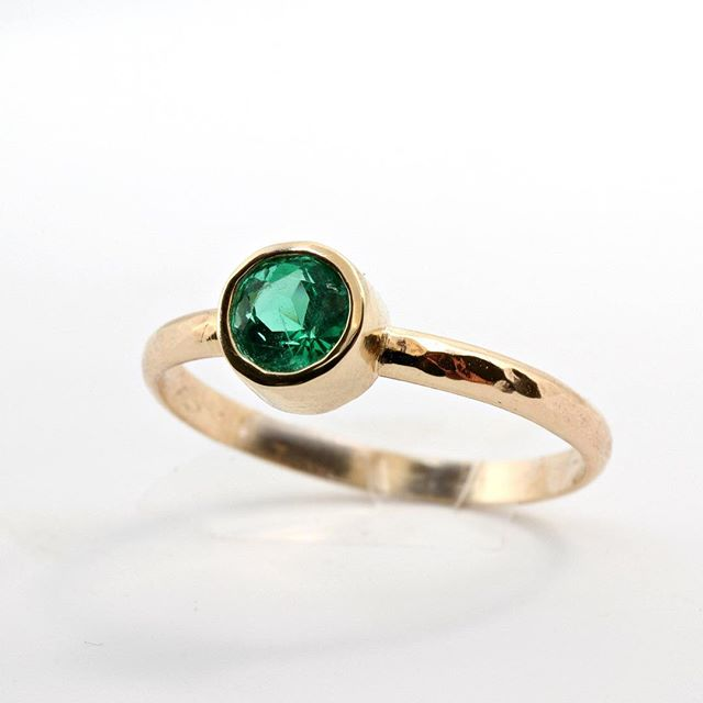 Excited to share the latest addition to my #etsy shop: Emerald Gold Ring, Solitaire 14k Gold Ring, Hammered Band, May Birthstone, May Birthday, #jewelry #ring #green #gold #women #emerald #round https://etsy.me/2V1s8rf. . . . . . . . #engagementring #solitairering #showmeyourrings #showmeyourrings #jewelryaddict #14k #finejewelry #instajewellery #meltmjewelry #igjewelry #statementjewelry