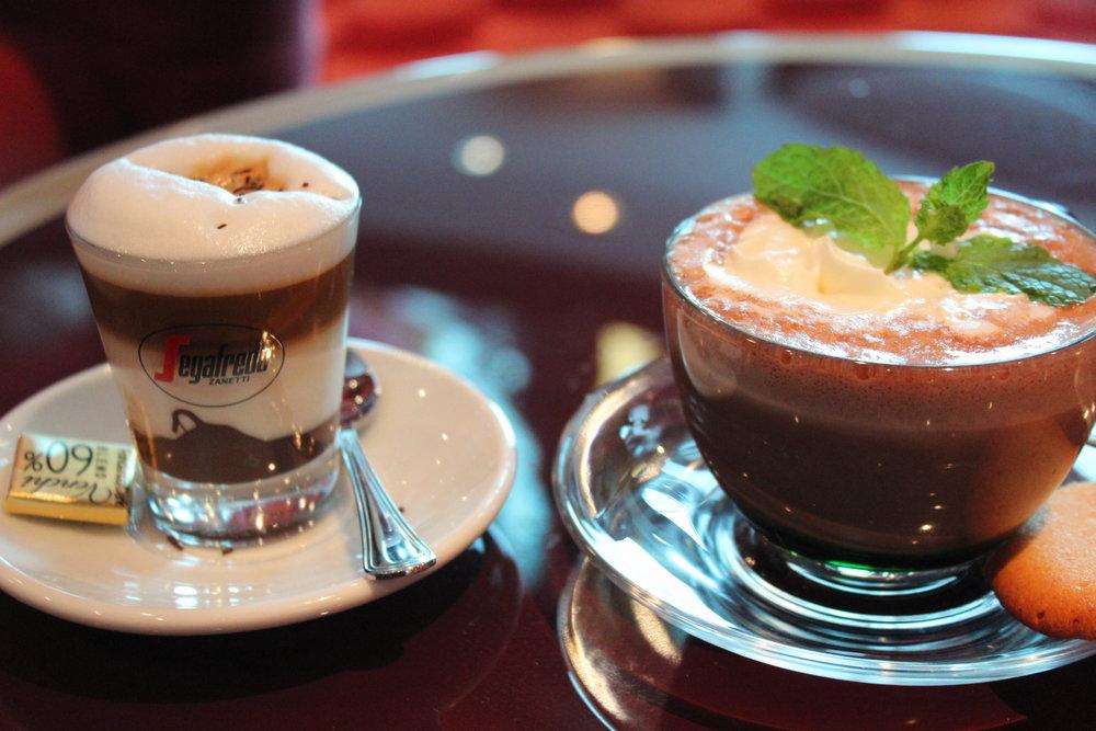Utbudet av kaffedrycker kan vara värt att beakta... Inga problem hos MSC!