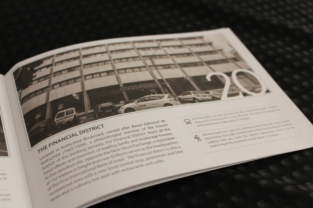 I boken man fick vid incheckningen kan man läsa om alla stadsdelar och hur man tar sig dit - till fots eller med buss