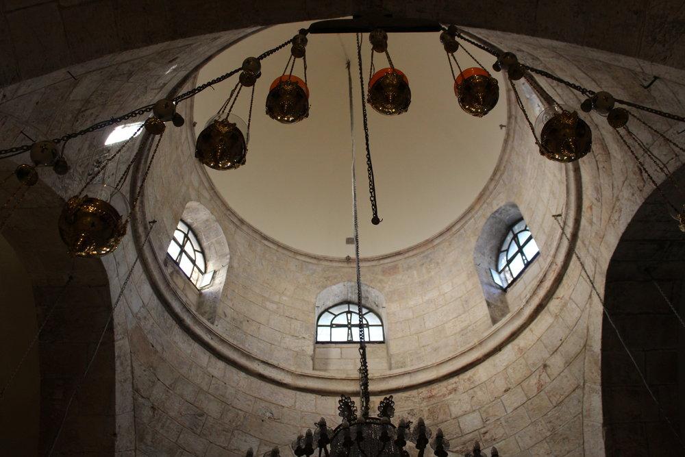 Heliga gravens kyrka (mycket oklart kring helighet och grav men en väldigt spännande kyrka!). Otroligt vackra rum!