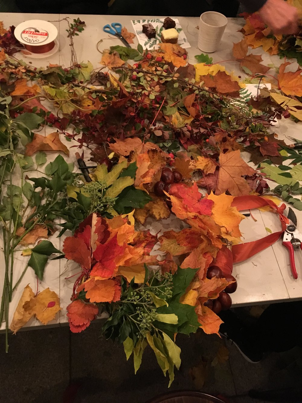 Kreativt kaos - älskar höstens färger.