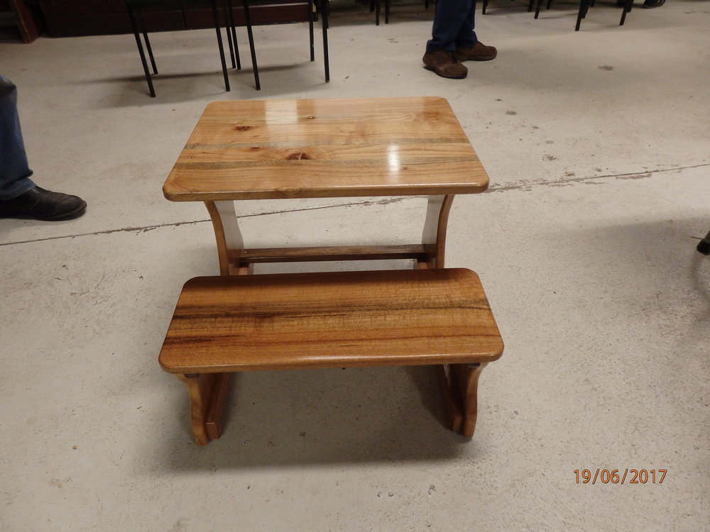Childs desk and seat
