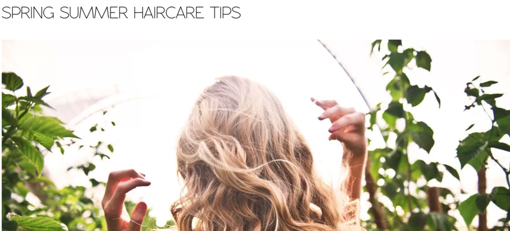 THE NATURAL PARENT MAGAZINE • SEPTEMBER 2018 SPRING SUMMER HAIRCARE TIPS  READ FULL ARTICLE HERE