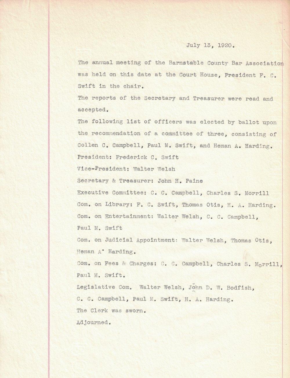 1920 Minutes