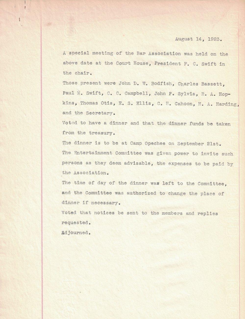 1923 Meeting