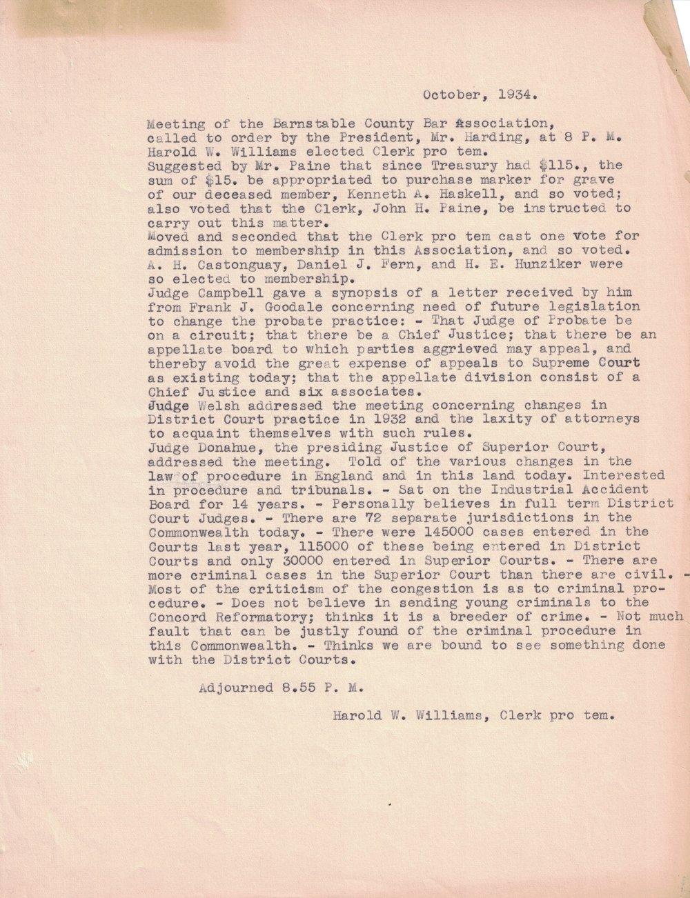 1934 Meeting