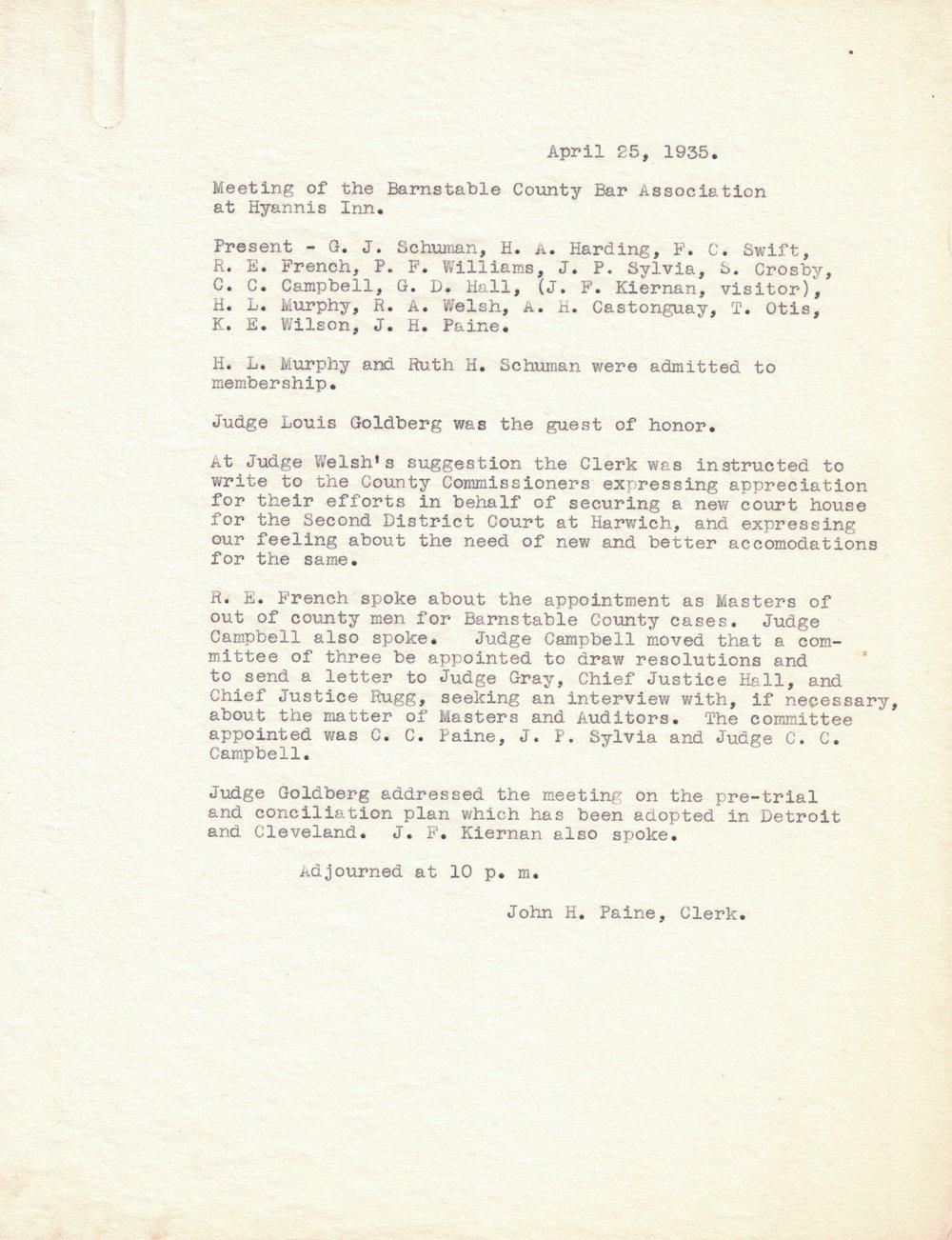 1935 Meeting