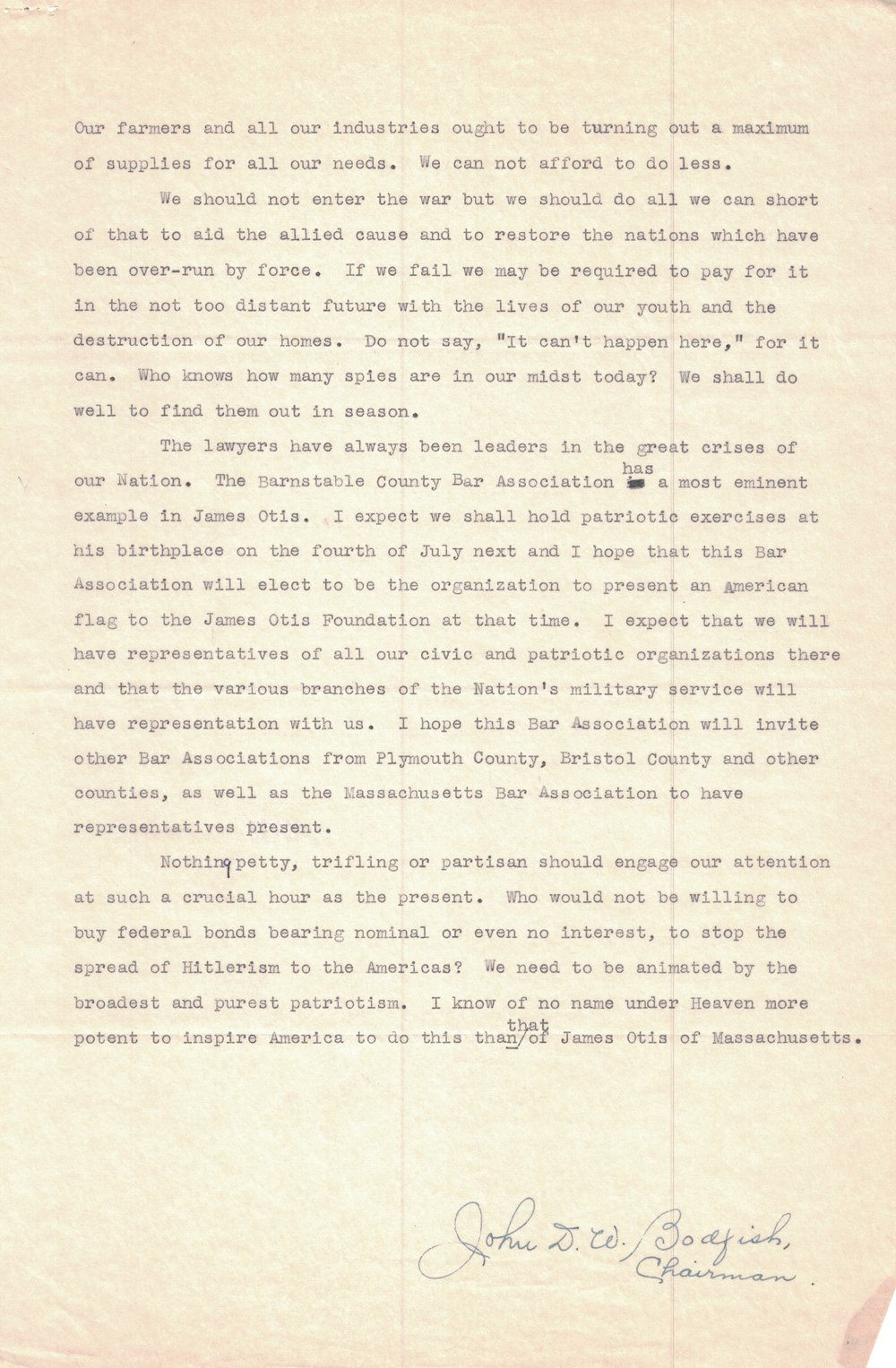 1940 Letter (Page 4)