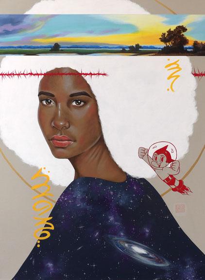"""Away No. 3"" acrylic on canvas 40x30 ©Sara Drescher"