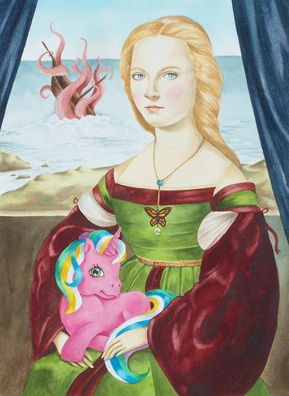 """Past Present Future"" watercolor ©Sara Drescher"