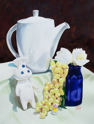 """White"" watercolor ©Sara Drescher-private collection"