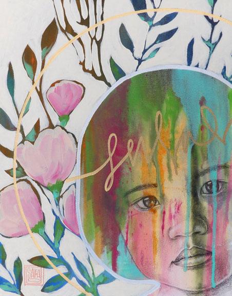 """Raiment"" colored pencil and acrylic 14x11 ©Sara Drescher"