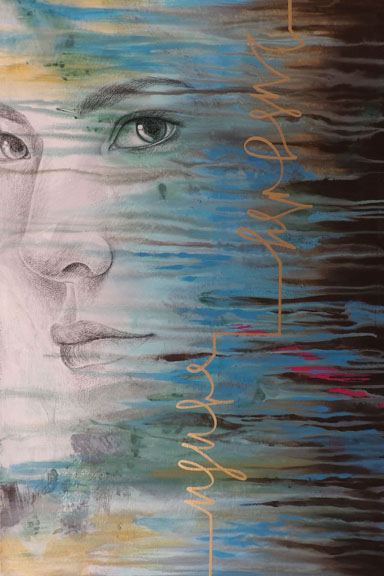 """Forgiveness"" 36x24 colored pencil and acrylic paint ©Sara Drescher"