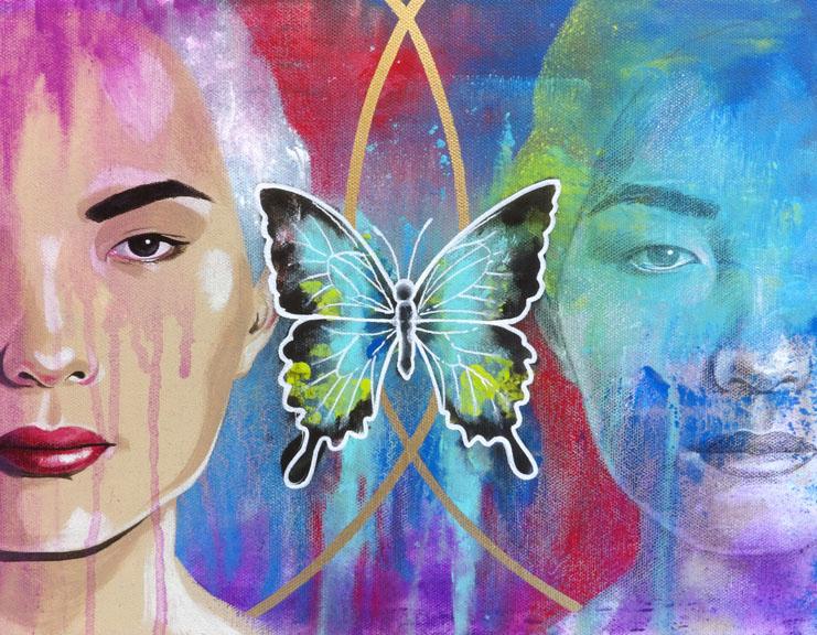 """Veiled"" colored pencil and acrylic paint 11x14 ©Sara Drescher"