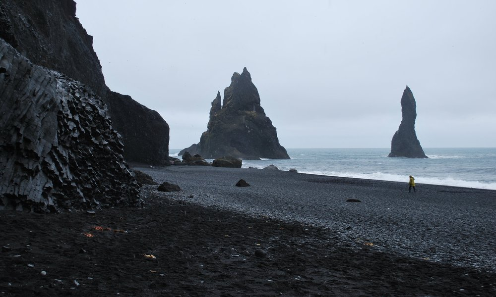 Black sands at Vik beach